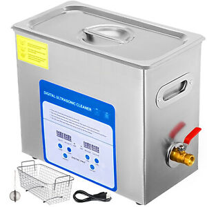 316-Stainless-Steel-6L-Ultrasonic-Cleaner-Kit-Jewellery-Cleaning-W-Ball-Basket