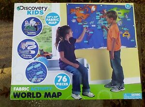 Activity discovery kids world map fabric animal velcro countries activity discovery kids world map fabric animal velcro gumiabroncs Images