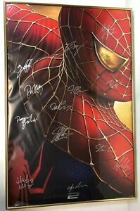 Spiderman-2-2004-poster-SIGNED-by-12-STAN-LEE-Maguire-Dunst-9-w-CoA
