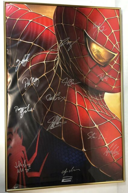 Spiderman 2 (2004) poster SIGNED by 12: STAN LEE, Maguire, Dunst + 9 – w/CoA!