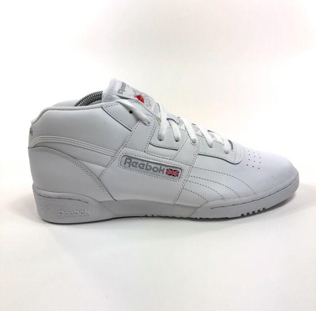 reebok men's workout mid classic sneaker