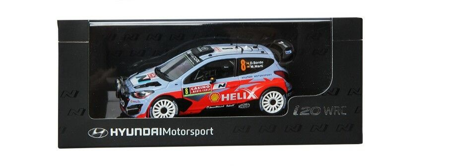Hyundai 1 43 i20 WRC Display model car motor sports Miniature Official nO.8