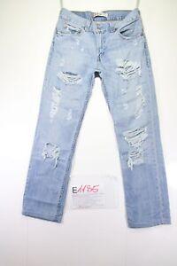 Levi's 511 Customized Raccourci (Cod.E1185) tg45 W31 L34 Jeans Femme Occasion
