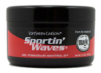 12 X Sportin Waves Hair Gel Pomade With Wavitrol Black 3.5oz