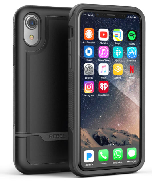 factory price 51410 f7c78 iPhone XR Protective Case Military Grade Rugged Protection (rebel) Black