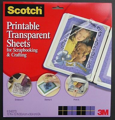Scotch 3m Scrapbook Para Imprimir Transparente Hojas Scrapbooking