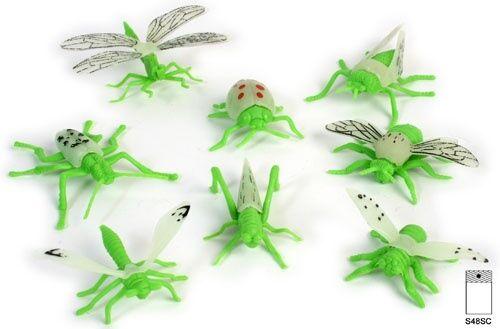 24 x insetto si illumina al buio-GLOW IN THE DARK-Mitgebsel festa