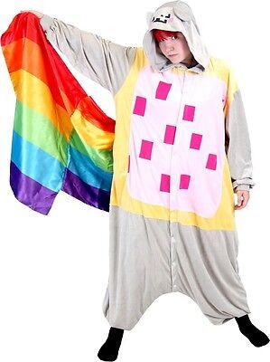 Adult Meme Space Nyan Cat Rainbow Tail Costume Japanese Kigurumi Cosplay Pajamas