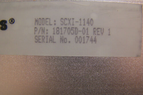 NATIONAL INSTRUMENTS SCXI-1140 8 CHANNEL SAMPLE E-HOLD AMPLIFIER NI 181705D-01