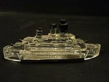 """VINTAGE GLASS """"JEANNETTE"""" BATTLESHIP CANDY CONTAINER"""
