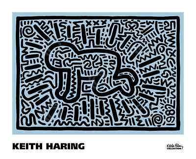 KH18 by Keith Haring Art Print Baby Crawling Crawl Pop Poster 32x26