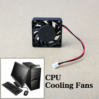 12V 2 Pin 40mm Mini 4cm DC Brushless Computer Cooler Cooling Fan PC Black