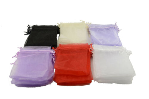 171842 Organza Drawsting Gift Bags Jewellery Packing Pouches Wedding Party