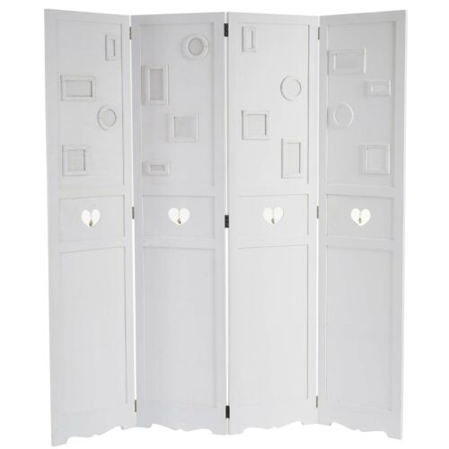 Folding Screen Image Gallery picture frames 170x161x2cm White Room Divider Screen
