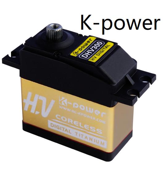 K-power DHV300 30KG Large Torque Coreless Motor High Voltage Micro Digital Servo