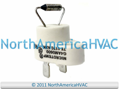 Original Equipment Manufacturer Trane American Standard Four Microtemp Fusible Interrupteur de fin G4AM0600 117 C
