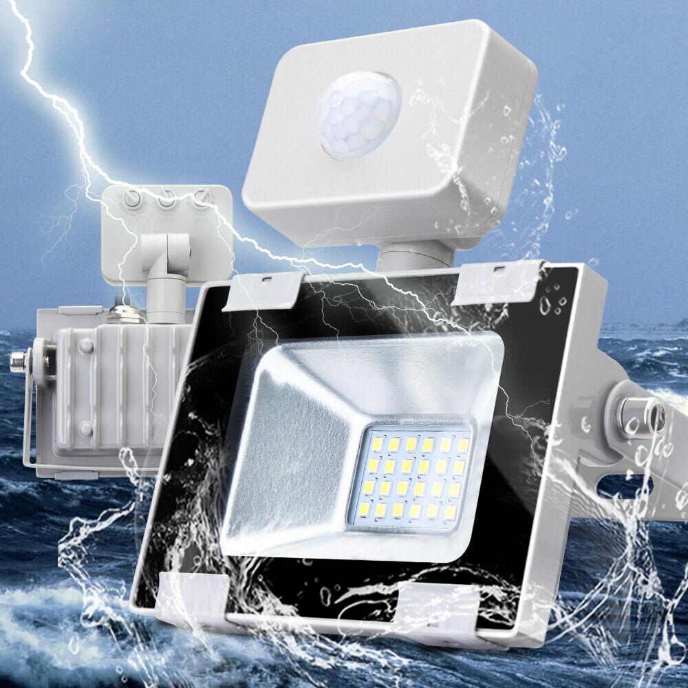 6x 20w LED con PIR detectores de movimiento reflector colocado eh exterior emisor kaltweiβ 220v