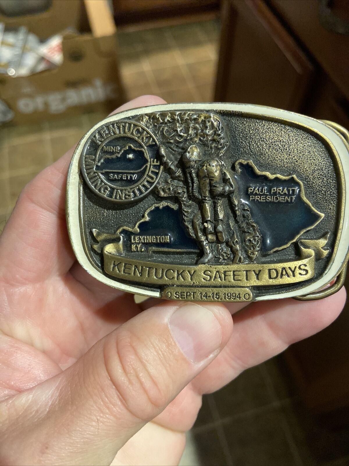 1994 días de seguridad Kentucky Instituto Minero Hebilla de cinturón