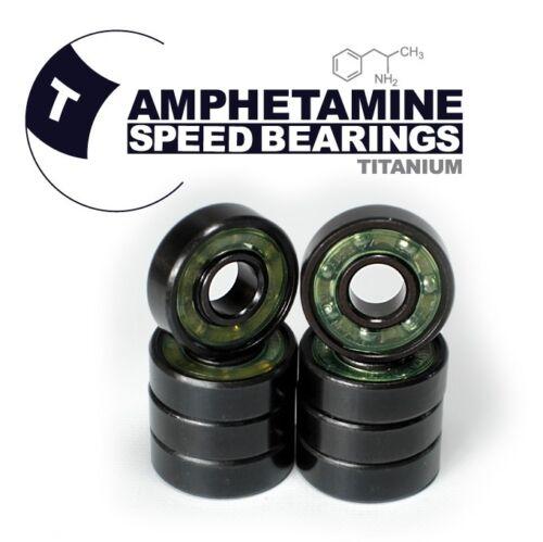 Rostfreie Titan Kugellager Skateboard// Longboard AMPHETAMINE TITANIUM Bearings