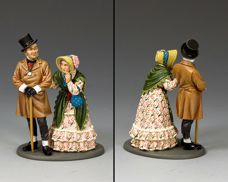 KING AND COUNTRY Dickens - Mr Mr & Mrs. Micawber WoD050 WoD50 Painted Metal