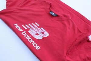 NEW-BALANCE-T-shirt-homme-taille-S-rouge-vintage-sport-running-jogging-original
