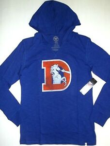 Denver Broncos Football Fan Hoodie Hooded Sweater Coat Thick Training Pullover