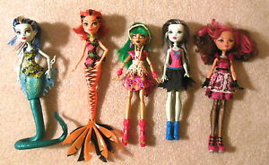 lot of 5x monster high ever after high dolls with clothes ebay