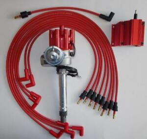 chevy 265-400 red female small cap hei distributor,coil ... gm hei wiring voltage regulator gm small cap hei wiring #10