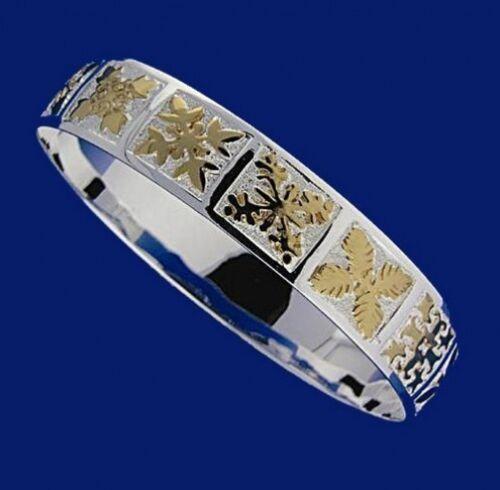 Hawaiian 925 Sterling Silver 10mm Quilt Cut Bracelet Bangle Open Slip On #B1013