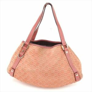 5c93a2c93 Gucci Tote bag Guccissima Pink Suede Leather Woman Authentic Used ...