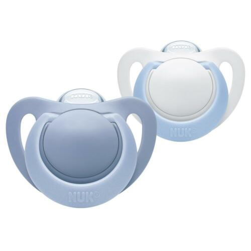 NUK Genius Baby Dummies 0-6 Months Silicone BPA Free Newborn Pacifier Soother