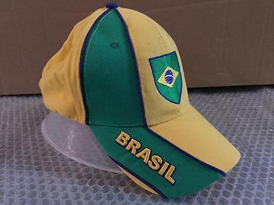 Energico Cappello Bandiera Brasile Visiera Cappellino Hat Verde Giallo