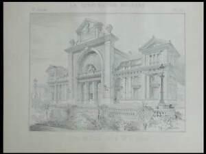 Appris Gare De Nice - 2 Planches- Construction Moderne N°36-37 1893 - Bobin Produire Un Effet Vers Une Vision Claire