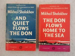 Lot-of-2-Mikhail-Sholokhov-AND-QUIET-FLOWS-THE-DON-amp-HOME-TO-THE-SEA-1966-1sts