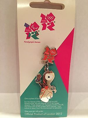 London 2012 Olympic Memorabilia London Paralympics 2012 Wenlock Metal Lapel Pin
