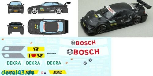 1//43 decal bmw m3 DTM testcar DTM 2012