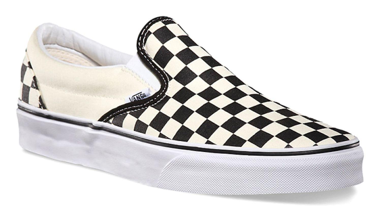 Vans Slip On Checkerboard Black, OFF White Womens Sneakers Shoes VN000EYEBWW