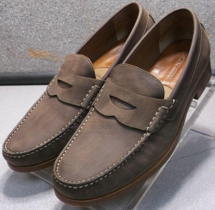 209666 WT50 Men's Shoe Size 8.5 M Brown Leather Johnston Murphy Walk Test