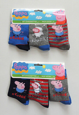 PEPPA PIG GEORGE   3 ER PACK    SOCKEN STRÜMPFE  GR. 23 - 34