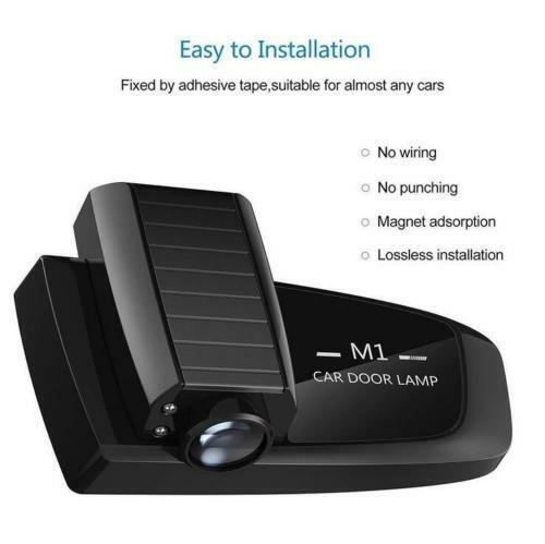 2PCS CHEVROLET LED Rechargeable Car Door Projector Shadow Laser Light Logo