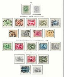 Belgium stamps 1870 Collection between OBP TX1-TX15A CANC/MLH VF