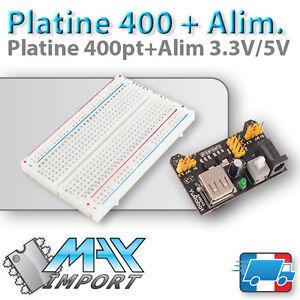 Pack-platine-d-039-essai-400-pts-Module-Alimentation-MB-102-3-3V-5V-Arduino