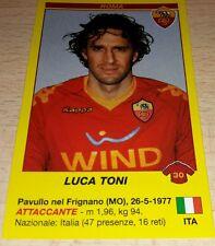 AGGIORNAMENTO FIGURINE CALCIATORI PANINI 2009/10 ROMA TONI ALBUM
