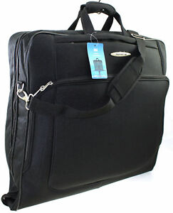 Large-Travel-Wardrobe-Dress-Garment-Suit-Carrier-Case-Suit-bag-Cover-Bag-Black