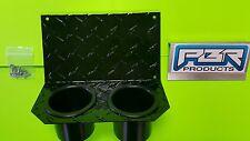 Yamaha Rhino Center Dash Mounting Plate Dual Cup Drink Holder D plate alum black
