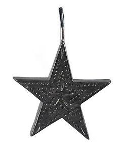 Set of 12 primitive country black tin star shower curtain - Star shower ebay ...