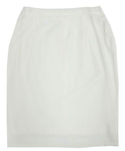 Womens 10-20 New Lined Cream Skirts Plain Office Knee Calf Length Work Ladies