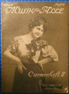 Musik-fuer-Alle-Jahrg-II-Heft-18-Carmenheft-II-Verlag-Ullstein-AG-Berlin-H8149