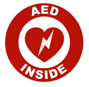 AED Inside Circle Emblem Vinyl Decal Window Sticker Car