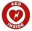 thumbnail 1 - AED Inside Circle Emblem Vinyl Decal Window Sticker Car